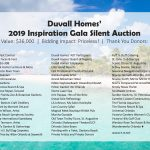2019 Gala Auction Donors