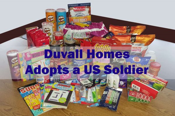 Duvall Homes Adopts A US Soldier