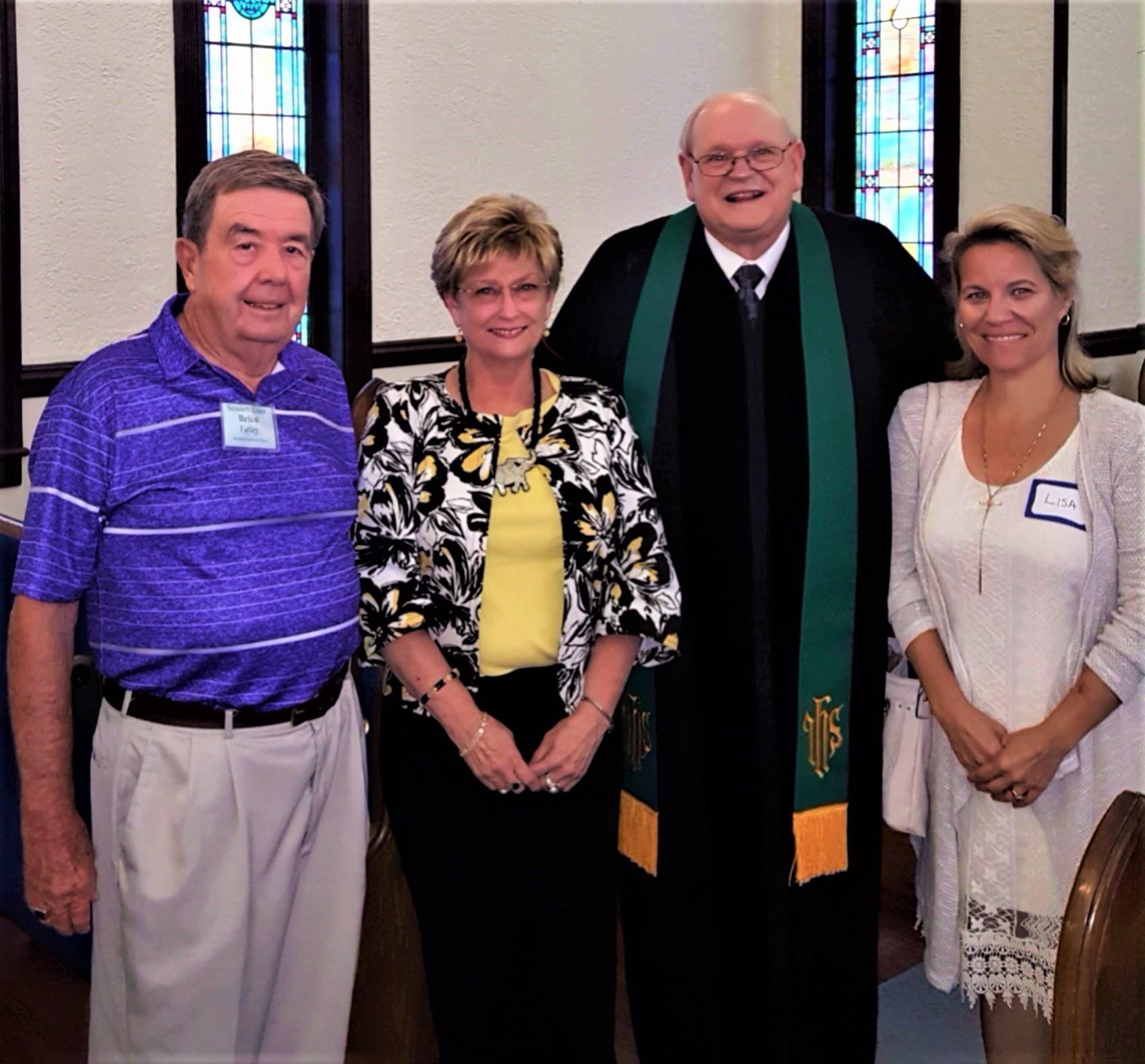 Pastor Laseter & Ellen, Brian Farley, Lisa habermehl